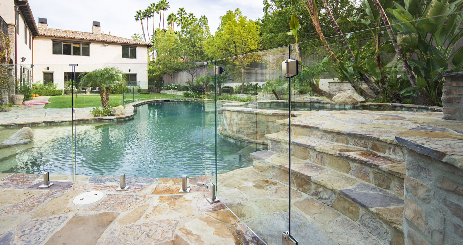 Glass Pool Fence Railing Systems Los Angeles California